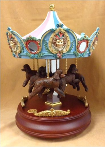Irish Water Spaniel- CAROUSEL MUSIC BOX - 6 DOGS