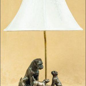 Border Terrier- Family Scene Lamp