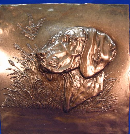 German Shorthair Pointer- Relief Design Plaque
