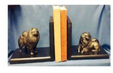 Keeshond - Bookends