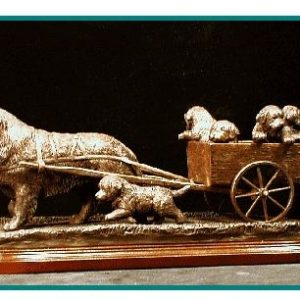 Bernese Mtn. Dog - Cart Scene