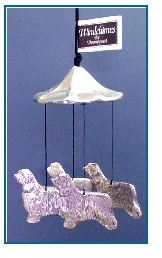 Bearded Collie Dog - Windchime