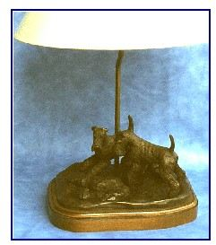 Airedale Terrier - Look A Frog Lamp