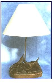 Border Terrier - Look a Frog lamp