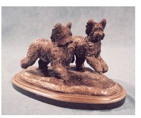 Briard - Pair Of Dogs Running