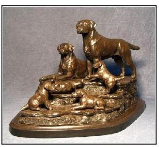 Labrador Dog - Family Gathering