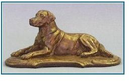 Labrador Dog - Lying on Deco Base