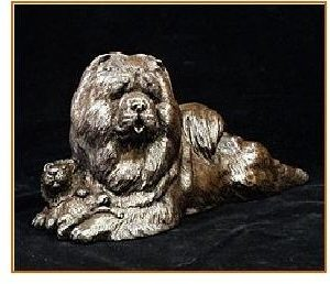 Chow Chow- Lying with Lion Toy