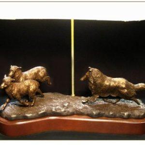 Collie Rough- Herding Scene Lamp