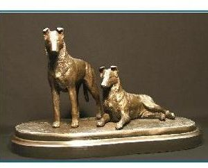 Collie Smooth - Pair on Cast Base