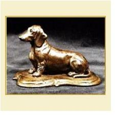 Dachshund Smooth - Small Sitting on Base