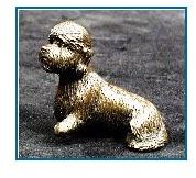 Dandie Dinmont Dog - Small Sitting Dog (Tiny)