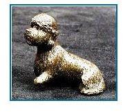 Dandie Dinmont Dog - Small Sitting Dog (Tiny)