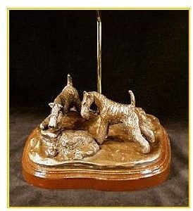 Fox Terrier Wire- Look - A Frog Lamp
