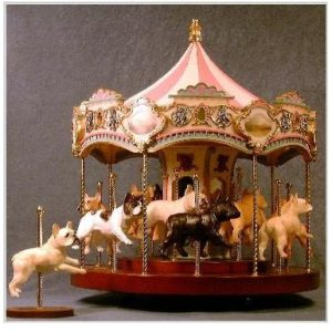 French Bulldog - Carousel Music Box