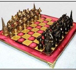 French Bulldog - Bronze Chess Set
