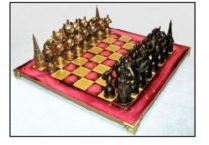 French Bulldog - Bronze Chess Set