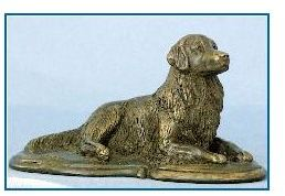 Golden Retriever Dog - Lying on Deco Base