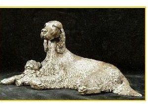 Gordon Setter Dog - Lying with Toy