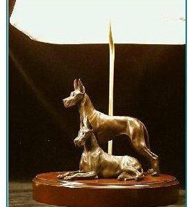 Great Dane Dog - Pair Lamp