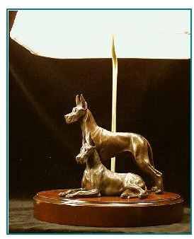 Great Dane Dog - Pair Lamp