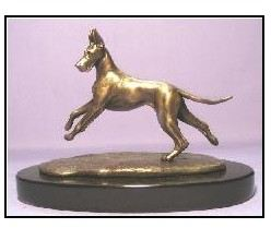 Great Dane Dog - Mini Moving in Bronze
