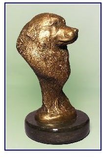 Great Pyrenees Dog - Small Bronze Bust