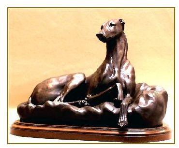 Greyhound Dog - Lying on Pillow