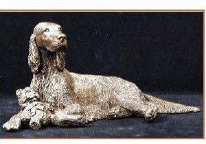 Irish Setter Dog - Lying with Toy