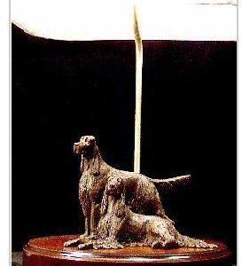 Irish Setter Dog - Pair Lamp