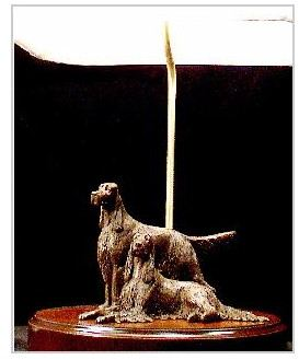 Irish Setter Dog - Pair Lamp