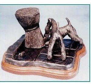 Irish Terrier Dog - Rats
