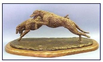 Irish Wolfhound Dog - Pair Running
