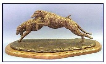 Irish Wolfhound Dog - Pair Running