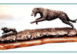 Irish Wolfhound Dog - Chasing Hare