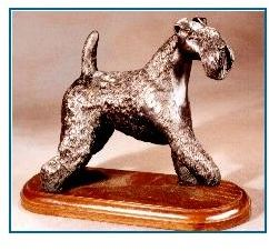 Kerry Blue Terrier Dog - Large Standing Dog paw raised