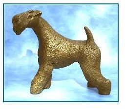 Kerrier Blue Terrier Dog - Large Standing Head Raised